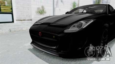 Jaguar F-Type Coupe 2015 para GTA San Andreas interior