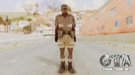 MGSV Phantom Pain CFA Soldier v1 para GTA San Andreas segunda tela
