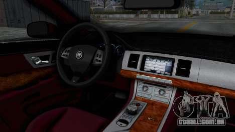 Jaguar XJ 2010 para GTA San Andreas vista interior