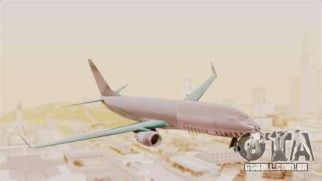 Boeing 737-3U3 Garuda Indonesia para GTA San Andreas traseira esquerda vista