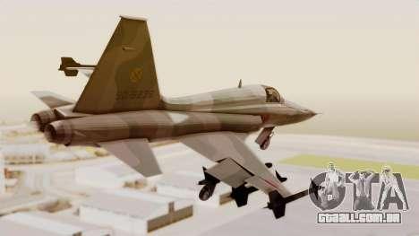 Northrop F-5E Tiger II JASDF para GTA San Andreas esquerda vista