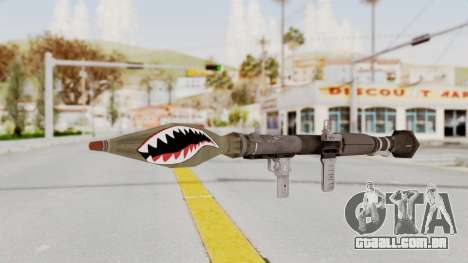 GTA 5 Rocket Launcher Shark mouth para GTA San Andreas segunda tela