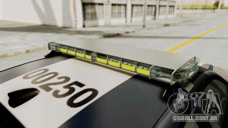 Dodge Charger RT 2016 Federal Police para as rodas de GTA San Andreas