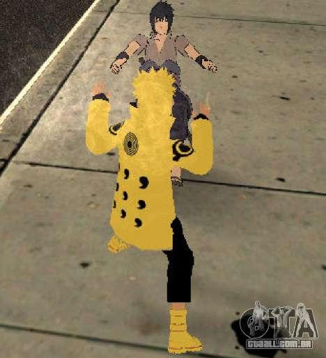 Naruto Ashura para GTA San Andreas por diante tela