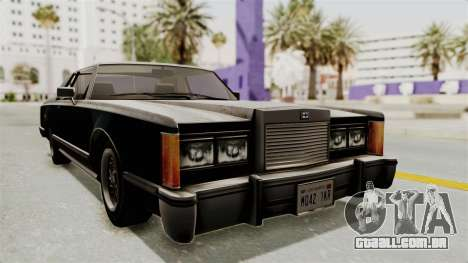 GTA 5 Dundreary Virgo SA Style para GTA San Andreas vista direita