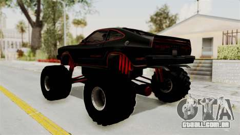 Ford Mustang King Cobra 1978 Monster Truck para GTA San Andreas esquerda vista
