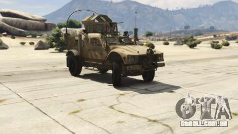 GTA 5 Oshkosh M-ATV 0.01 vista lateral direita
