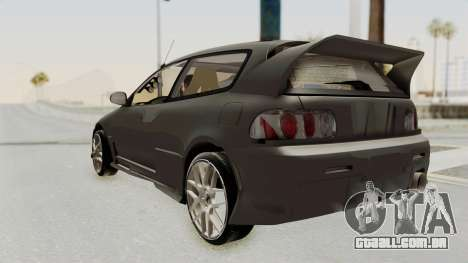 Honda Civic Hatchback 1994 Tuning para GTA San Andreas esquerda vista