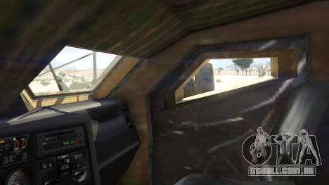 GTA 5 Oshkosh M-ATV 0.01 traseira direita vista lateral