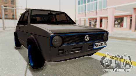 Volkswagen Golf 1 para GTA San Andreas vista direita