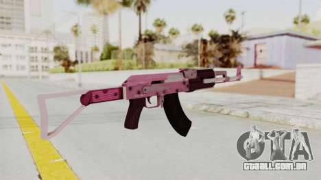 Assault Rifle Pink para GTA San Andreas terceira tela