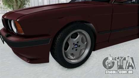 BMW 525i E34 1994 LT Plate para GTA San Andreas vista traseira
