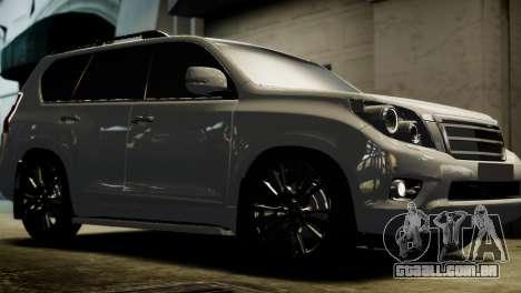 Toyota Land Crusier Prado 150 para GTA 4 traseira esquerda vista