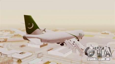 Boeing 747-200 Pakistan International para GTA San Andreas esquerda vista