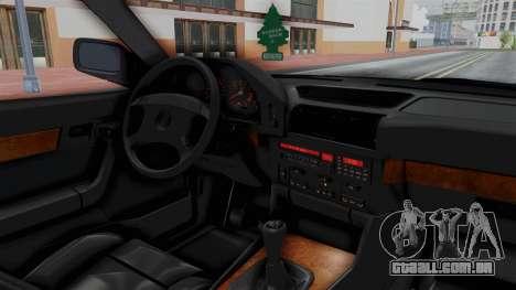BMW 525i E34 1994 SA Plate para GTA San Andreas vista interior