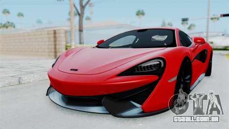 McLaren 570S 2016 para GTA San Andreas traseira esquerda vista