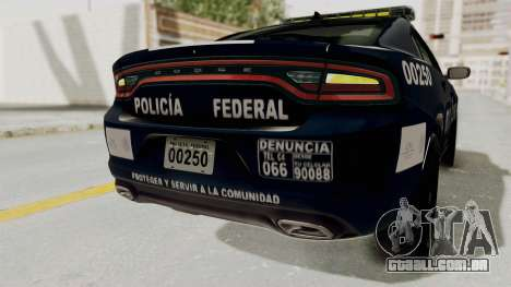 Dodge Charger RT 2016 Federal Police para GTA San Andreas interior