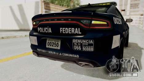 Dodge Charger RT 2016 Federal Police para GTA San Andreas interior