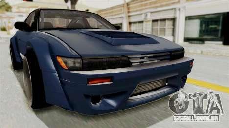 Nissan Silvia Sil80 para GTA San Andreas vista superior