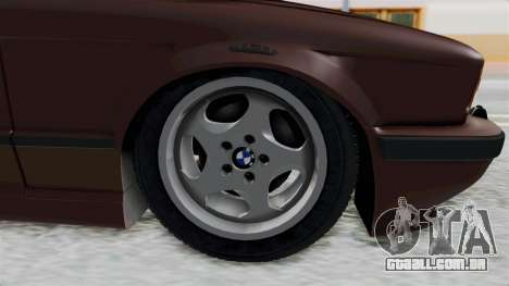 BMW 525i E34 1994 SA Plate para GTA San Andreas vista traseira