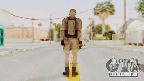 MGSV Phantom Pain CFA Combat Vest 2 v2 para GTA San Andreas terceira tela