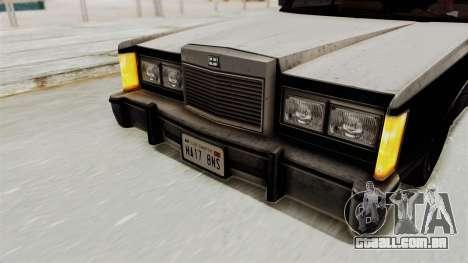 GTA 5 Dundreary Virgo IVF para GTA San Andreas vista interior