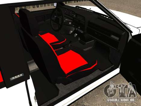VAZ 2108 Stock by Greedy para GTA San Andreas vista interior
