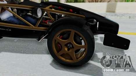 Ariel Atom 500 V8 para GTA San Andreas vista traseira