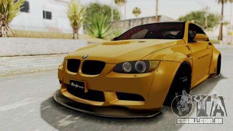 BMW M3 E92 Liberty Walk para GTA San Andreas traseira esquerda vista
