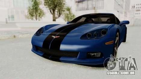 Chevrolet Corvette C6 para GTA San Andreas traseira esquerda vista