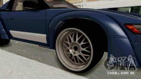 Nissan Silvia Sil80 para GTA San Andreas vista traseira