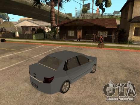 Datsun on-DO para GTA San Andreas vista traseira