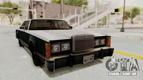 GTA 5 Dundreary Virgo IVF para GTA San Andreas traseira esquerda vista
