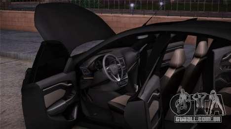 Lada Vesta Stoke para GTA San Andreas traseira esquerda vista