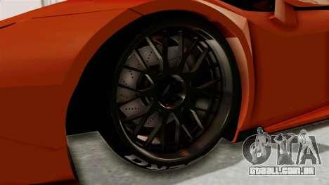 Lamborghini Huracan Libertywalk Kato Design para GTA San Andreas vista traseira