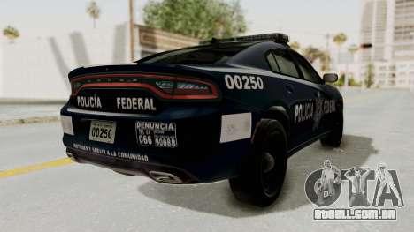Dodge Charger RT 2016 Federal Police para GTA San Andreas traseira esquerda vista