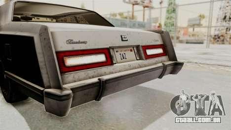 GTA 5 Dundreary Virgo IVF para GTA San Andreas vista superior