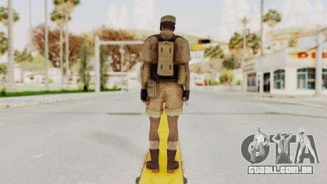 MGSV Phantom Pain CFA Combat Vest 2 v1 para GTA San Andreas terceira tela