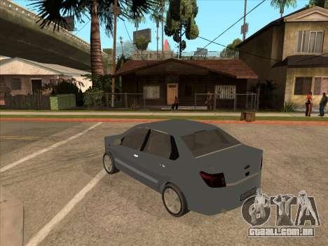Datsun on-DO para GTA San Andreas vista interior