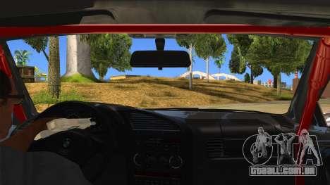 BMW M3 Drift Missile para GTA San Andreas vista interior