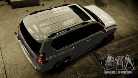 Toyota Land Crusier Prado 150 para GTA 4 vista lateral