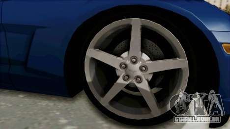 Chevrolet Corvette C6 para GTA San Andreas vista traseira