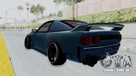 Nissan 180SX BETA para GTA San Andreas esquerda vista