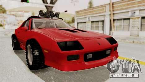 Chevrolet Camaro 1990 IROC-Z Rusty Rebel para GTA San Andreas
