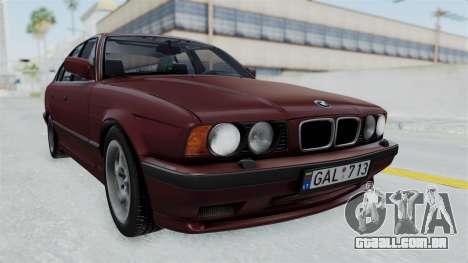 BMW 525i E34 1994 LT Plate para GTA San Andreas traseira esquerda vista