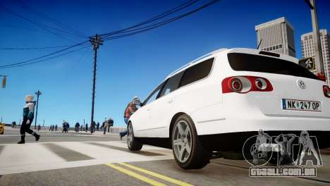 Volkswagen Passat Variant 2010 V1 para GTA 4 vista de volta