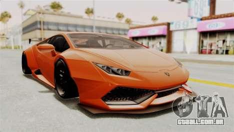 Lamborghini Huracan Libertywalk Kato Design para GTA San Andreas traseira esquerda vista