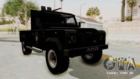 Land Rover Defender SAJ para GTA San Andreas vista direita