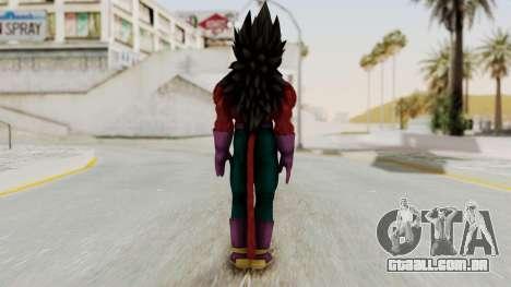 Dragon Ball Xenoverse Vegeta SSj4 para GTA San Andreas terceira tela