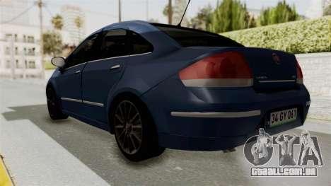 Fiat Linea 2011 para GTA San Andreas traseira esquerda vista